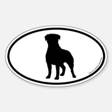 Rottweiler Oval Bumper Stickers