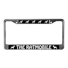 """Rat Terrier """"The Ratmobile"""" License Plate Frame"""