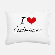 I love Condominiums Arti Rectangular Canvas Pillow