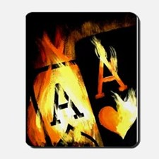 Hot Flaming Poker Aces Mousepad