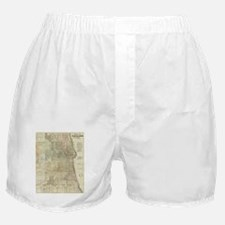 Vintage Map of Chicago (1857) Boxer Shorts