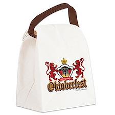 Oktoberfest Lions Canvas Lunch Bag