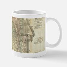 Vintage Map of Chicago (1857) Mugs