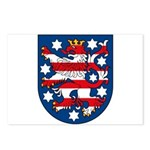 Thuringen Coat of Arms Postcards (Package of 8)