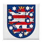 Thuringen Coat of Arms Tile Coaster