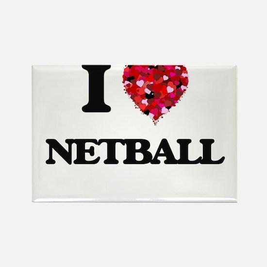 I Love Netball Magnets