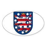 Thuringen Coat of Arms Oval Sticker