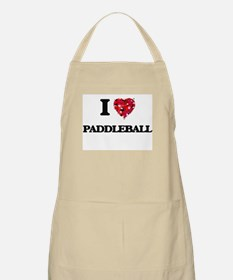 I Love Paddleball Apron