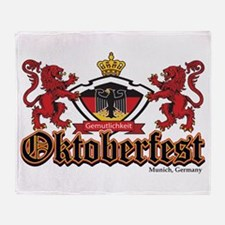 Oktoberfest Lions Throw Blanket