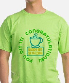 You Did It! Worlds Best Cup of Coffee Elf T-Shirt