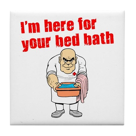 Time for Your Bed Bath! Tile Coaster