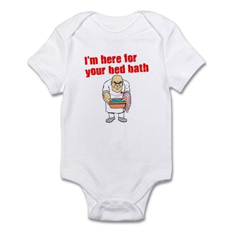 Time for Your Bed Bath! Infant Bodysuit