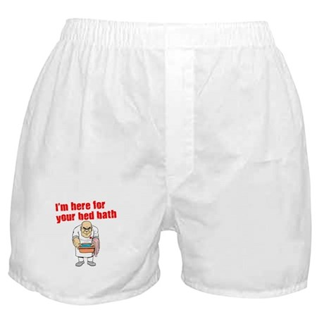 Time for Your Bed Bath! Boxer Shorts