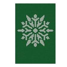 Knit Snowflake Postcards (Package of 8)