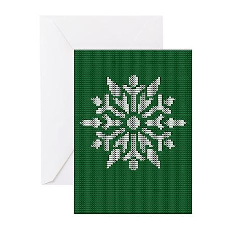 Knit Snowflake Greeting Cards (Pk of 20)