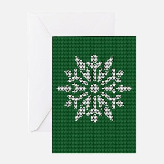 Knit Snowflake Greeting Card