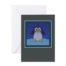 Knit Penguin Greeting Card