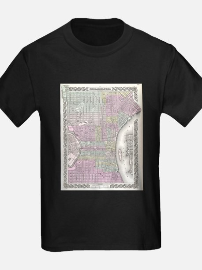 Vintage Map of Philadelphia (1855) T-Shirt