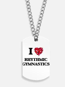 I Love Rhythmic Gymnastics Dog Tags