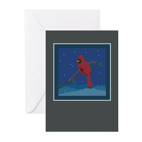 Knit Cardinal Greeting Cards (Pk of 10)