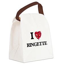 I Love Ringette Canvas Lunch Bag