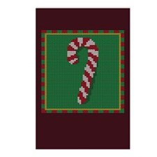 Knit Candy Cane Postcards (Package of 8)