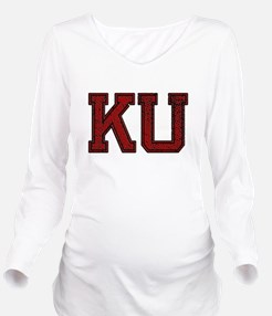 Cute Ku Long Sleeve Maternity T-Shirt