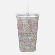 Vintage Map of Philade Acrylic Double-wall Tumbler