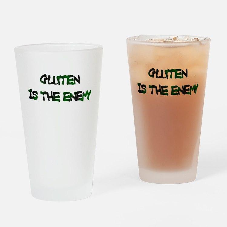 Gluten Is The Enemy Drinking Glass