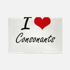 I love Consonants Artistic Design Magnets