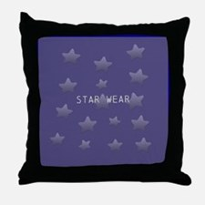 Cool Glossy Blue Throw Pillow