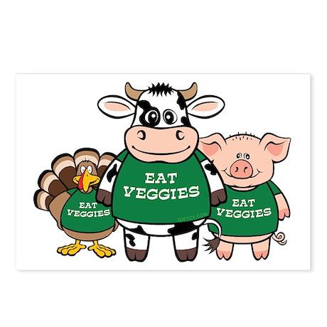 Eat Veggies Postcards (Package of 8)