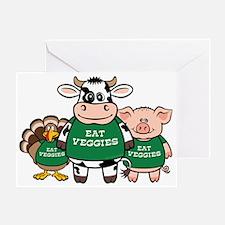 Eat Veggies Greeting Card
