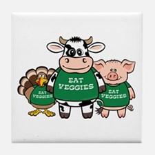 Eat Veggies Tile Coaster