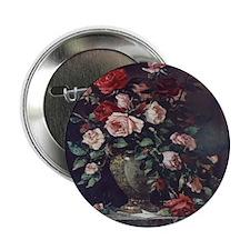Painted Rose Bouquet Button
