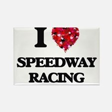 I Love Speedway Racing Magnets