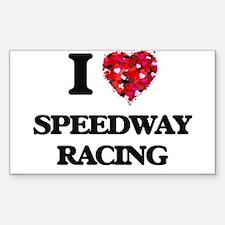 I Love Speedway Racing Decal