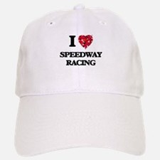 I Love Speedway Racing Baseball Baseball Cap