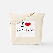 I love Contact Lens Artistic Design Tote Bag
