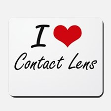 I love Contact Lens Artistic Design Mousepad