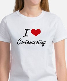 I love Contaminating Artistic Design T-Shirt