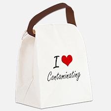 I love Contaminating Artistic Des Canvas Lunch Bag