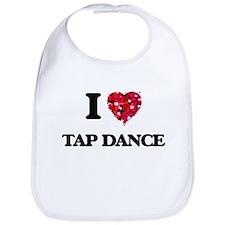I Love Tap Dance Bib