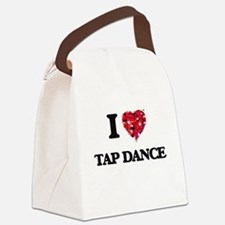 I Love Tap Dance Canvas Lunch Bag