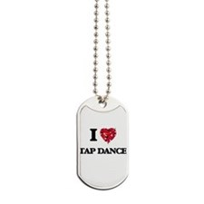 I Love Tap Dance Dog Tags