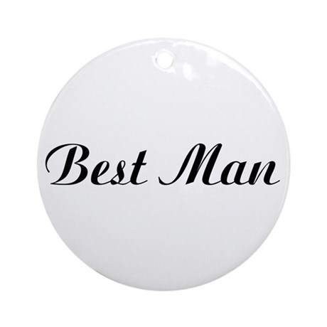 Best Man Ornament (Round)