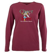 Cheer Beer Holiday Spirit Plus Size Long Sleeve Te