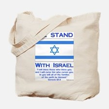 We Stand With Israel Tote Bag