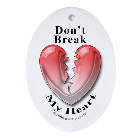 Valentine Don't Break My Heart Keepsake Pendant