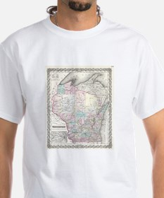 Vintage Map of Wisconsin (1855) T-Shirt